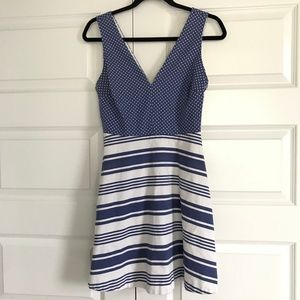 VICTORIAS SECRET Skater Dress Blue White Striped 6